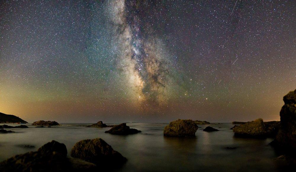 Starlit Nightsky Om Meditation